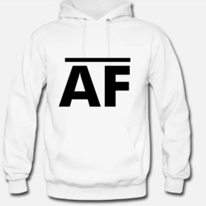 Hoodie in White - Front