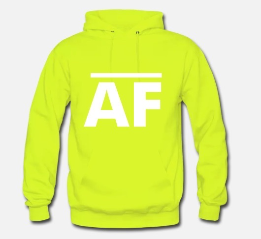 Hoodie in Lime - Front