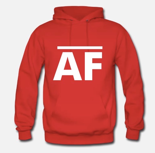 Hoodie in Red - Front