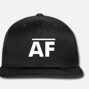 Snapback AF Baseball Hat - Black