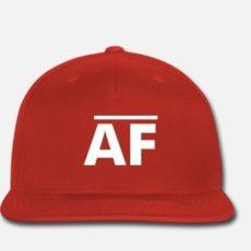 Snapback AF Baseball Hat - Red